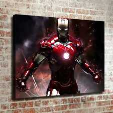 "12""x16""Iron Man Picture HD Canvas prints Photos Painting Home decor Wall art"