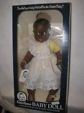 """Vintage 17"""" Black Gerber Baby Doll In Box 1979"""