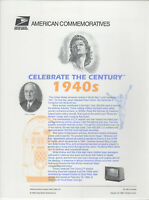SSS: USPS 1999  Commemorative Panel #562  Celebrate the Century 1940s  Sc #3186