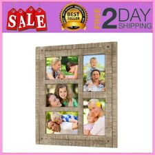 - Collage Picture Frames From Rustic Distressed Wood Holds Five 4x6 Photos Ready