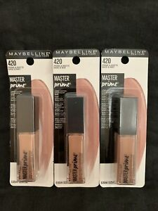 NEW 3 PK Maybelline Master Prime Long-Lasting Eyeshadow Base, 420 Prime & Matte
