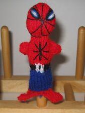 Superhero Spiderman HandKnitted Finger Puppet PERU Folk Art Adorable Handmade
