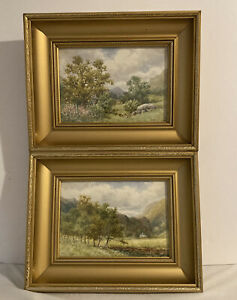 Vintage Watercolours on Paper - Sydney P Winder - Lake District - x 2 - Framed