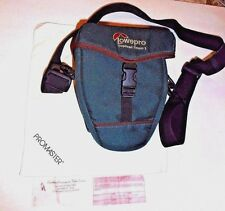 Lowepro Topload Camera Bag Padded Case Green shoulder Strap & Cleaning Cloth #01