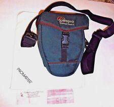 Lowepro Topload Camera Bag Padded Case Green shoulder Strap & Cleaning Cloth #11
