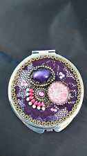HAND CRAFTED FOLDING HANDBAG COMPACT MAKEUP MIRROR STYLE A