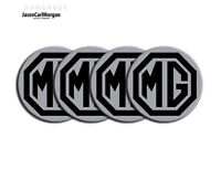 MG ZT ZS ZR  Alloy Wheel Centre Caps Badges Black & Silver 57mm Logo Cap Badge