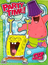 SPONGEBOB Bubbles INVITES and THANK YOU NOTES (8)~ Birthday Party Supplies Cards