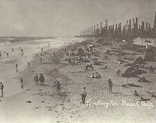 "HUNTINGTON BEACH Surf City 1930's OIL WELLS DERRICKS Photo Print 949 11"" x 14"""