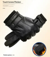 Gloves Leather Sheepskin Genuine S Winter Shearling Fur Warm Touch Screen Finger