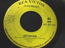 "Elvis - Not For Sale/Promo 7"" 45 rpm High Heels Sneakers/ Guitar Man"