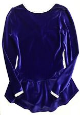 GK Elite Purple Athletic Test Figure Skating Dress size Adult Ladies Small