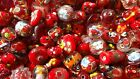 LAMPWORK Glass Bead Mix 50g Red Mix Jewellery Making
