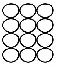 Sanitaire Upright Round Vacuum Cleaner Belt 30563, 12 Pack