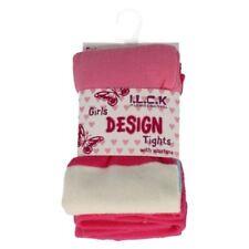 Calzini e collant collant rosa a fantasia righe per bambine dai 2 ai 16 anni