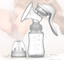 Manual Breast Pump Breastpump Milk Collection Bottle Infant Baby Feeding Suction