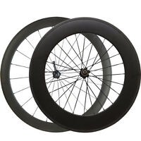 60mm+88mm Clincher Bike Carbon Wheels 700C Carbon Road Bicycle Racing Wheelset