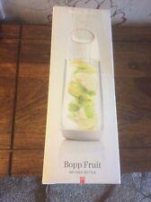 BNIB XD Design Unisex's Bopp Fruit Infuser Bottle, White