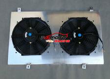 Aluminum Radiator Shroud + Fans For Nissan Patrol Y61 GU 2.8 3.0 4.2 4.5 Diesel