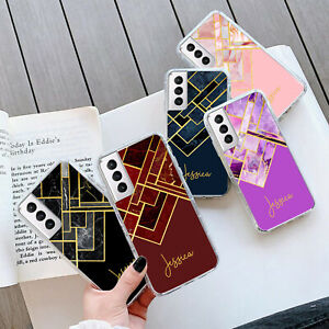 PERSONALISED MARBLE GEL Case Cover For Samsung S21 Plus Ultra 252