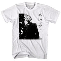 Halloween Horror Movie Michael Myers Masked Men's T Shirt Scary Haunted White