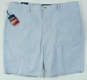 New~CHAPS Men Stretch Oxford Golf SHORTS~Size 38~Retail $55  Blue Mu  BoxD