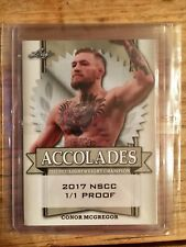 """CONOR McGREGOR 2017 National Convention Leaf """"Accolades"""" 1/1 Blank Back Proof"""
