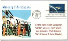 PROJECT MERCURY STAMP FIRST DAY OF ISSUE, GUS GRISSOM, JOHN GLENN, ALAN SHEPARD