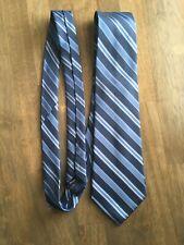 DANIEL CRAIG made in ITALY Silk Tie Men's Blue White Stripe Necktie