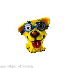 Lámpara Solar Locos Dog Perro con azul Gafas LED Decoración De Jardín Fiesta