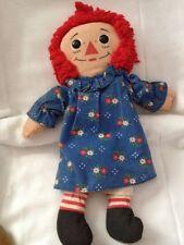 """Vintage 12"""" RAGGEDY ANN Doll PLAYSKOOL 1987"""