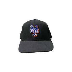 MLB NEW YORK METS New Era 59Fifty Fitted Hat. Black/Gray under Brim Size 7 5/8