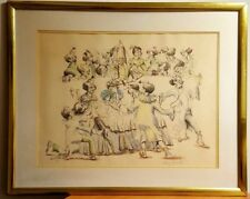 Clowns in the Operating Room Wayne Howell art Signed & Framed SURGEON DR. CIRCUS