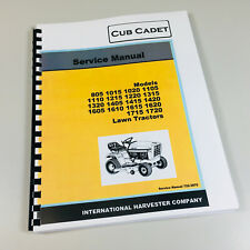 CUB CADET 1610 1615 1620 LAWN GARDEN TRACTOR SERVICE MANUAL REPAIR SHOP