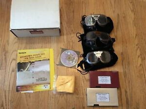 Fatal Vision DWI DUI Impaired Vision Simulator Alcohol Awareness 3x Goggles Kit