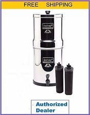 Travel Berkey Water Filter w 2 Black Filters  plus Counter Stand w Warranty