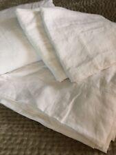 Restoration Hardware Stonewashed Belgian Linen Sheet Set, Cal King, White