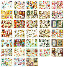 Bumper bargain decoupage kit, scissors needed, 33 sheets, cardmaking, occasions