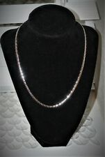 Vintage Silver Necklace, Marked Emmons Patent 3427691, Chain Link Necklace 17""