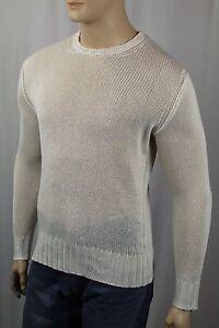Polo Ralph Lauren Cream Crewneck Linen Sweater NWT $245