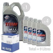 Engine Oil and Filter Service Kit 9 LITRES Fuchs GT1 PROFLEX XTL 5w-30 9L