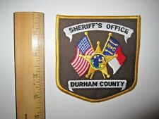 SHERIFF'S OFFICE DURHAM NORTH CAROLINA POLICE EMBROIDERED PATCH MINT UNUSED