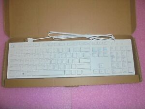 New Dell USB Wired Multimedia Desktop Keyboard English Model KB216 - White TKV0H
