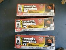 Lot Of 3 ~ The Creosote Sweeping Log Fireplace Woodstoves Creosote Removing Log