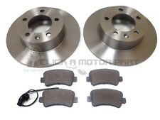 VAUXHALL MOVANO 2.3 CDTi 10-16 REAR 2 BRAKE DISCS AND PADS (FRONT WHEEL DRIVE)