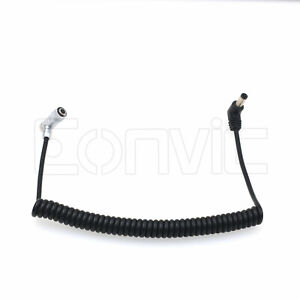 PortKeys BM5 BM7 HH7 HS7T Monitor DC 4 Pin Coiled Power Cable, Right Angle 4P