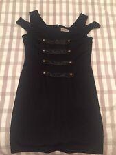 Hell Bunny Steampunk Black Mini Wiggle Dress Size 16