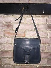 1960's VINTAGE AUTHENTIC COACH COURIER LEATHER HANDBAG RARE SHADE OF BLUE