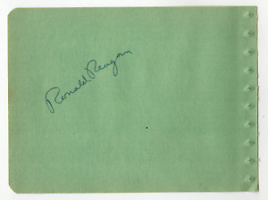 Ronald Reagan & Dick Baldwin signed autographed album page! RARE! Authentic! 877