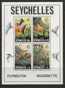 SEYCHELLES Sc 482a NH issue of 1981 - SOUVENIR SHEETS - ANIMALS - BATS